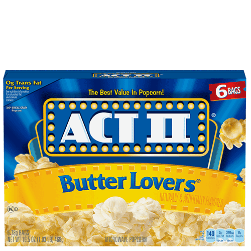 Calories In Act Ii Kettle Corn Microwave Popcorn